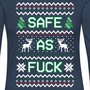 Safe As Fuck - Christmas Long Sleeve Tee (Women) - Women's Premium Longsleeve Shirt