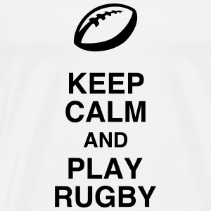 Rugby / Rugbyman / Sport / Fighter / Fight T-shirts - Herre premium T-shirt