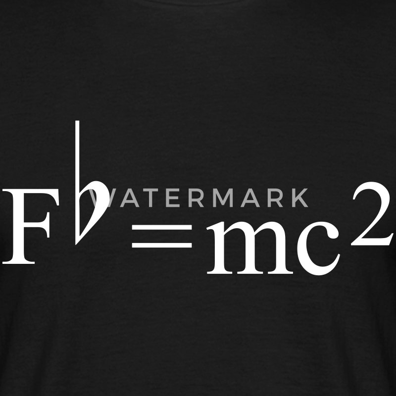 Fb=mc2 Theory of Relativity for Musicians Camisetas - Camiseta hombre