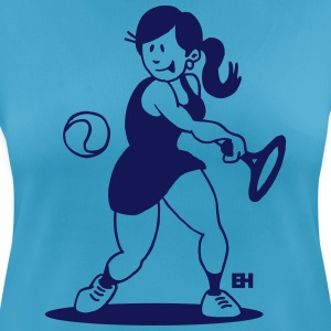 Tennis girl hitting a backhand T-Shirts - Women's Breathable T-Shirt