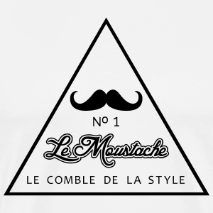 Moustage No1 Triangle - Männer Premium T-Shirt