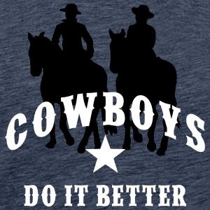 Cowboys / Cowboys Do It Better - Star - Männer Premium T-Shirt