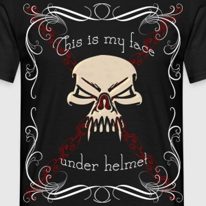 My face under helmet - Camiseta hombre