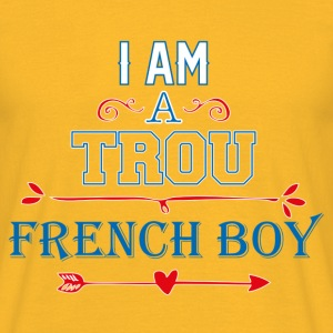 T shirt jaune homme Humour Trou French boy - T-shirt Homme