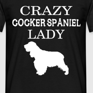 Crazy Cocker spaniel Lady - Men's T-Shirt
