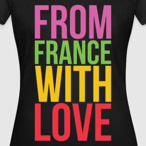 T shirt noir femme from france with love - T-shirt Femme