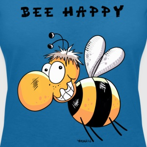 Bee Happy T-Shirts - Women's V-Neck T-Shirt