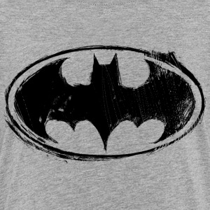 Batman Logo black retro - Kinderen Premium T-shirt