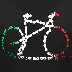 Italian Bike Chain T-Shirts - Women's V-Neck T-Shirt