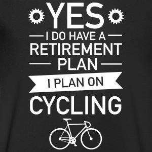 I Do have A Retirement Plan - I Plan On Cycling T-shirts - Herre T-shirt med V-udskæring