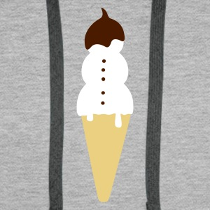 :: snowman ice cream :-: - Sweat-shirt à capuche Premium pour hommes
