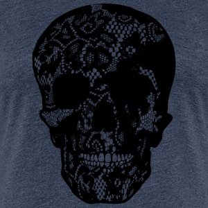 Skull Covered With Lace - black - Frauen Premium T-Shirt