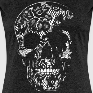 Skull Covered With Lace - white - Frauen Premium T-Shirt