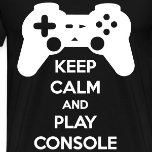 Keep calm and play console - Geek gamer - T-shirt Premium Homme
