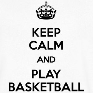 keep calm and play basketball T-Shirts - Männer T-Shirt mit V-Ausschnitt