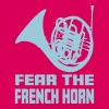 FEAR THE FRENCH HORN T-shirts - Dame premium T-shirt