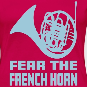 FEAR THE FRENCH HORN T-shirts - Premium-T-shirt dam