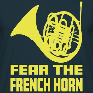 FEAR THE FRENCH HORN T-shirts - Herre-T-shirt
