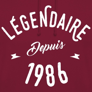 legendaire depuis 1986 Sweat-shirts - Sweat-shirt à capuche unisexe