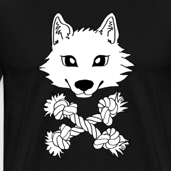 Chien loup Pirate Tee shirts - T-shirt Premium Homme