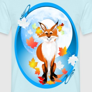 Fall Fox and Were-Wolf Moon-oval - Männer T-Shirt