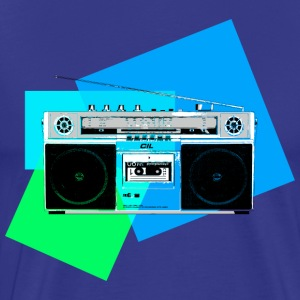 Colorful Ghettoblaster 2 - Männer Premium T-Shirt