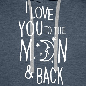 I LOVE YOU TO THE MOON & BACK Hoodies & Sweatshirts - Men's Premium Hoodie