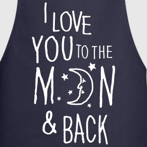 I LOVE YOU TO THE MOON & BACK  Aprons - Cooking Apron