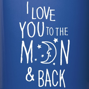 Bleu royal I LOVE YOU TO THE MOON & BACK Bouteilles et Tasses - Tasse en couleur