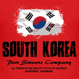 Südkorea Flagge T-Shirts - Männer Slim Fit T-Shirt