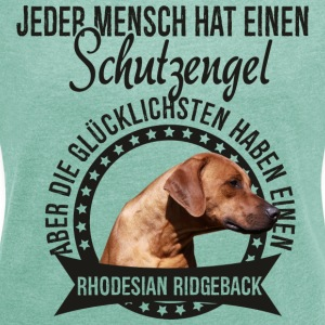 My guardian angel - Rhodesian Ridgeback T-Shirts - Women's T-shirt with rolled up sleeves