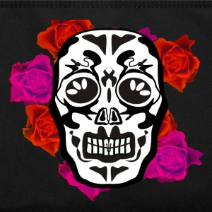 mexican skull flowers Bags & Backpacks - Retro Bag