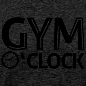 gym o'clock T-shirts - Mannen Premium T-shirt
