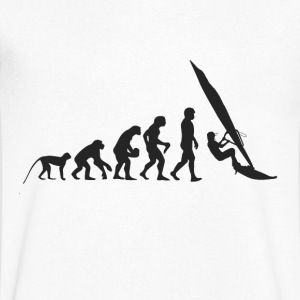 Evolution Windsurfing T-shirts - Mannen T-shirt met V-hals