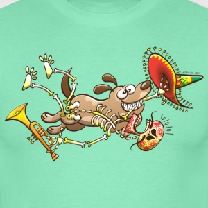 Mischievous Dog Stealing Mexican Skeleton T-Shirts - Men's T-Shirt