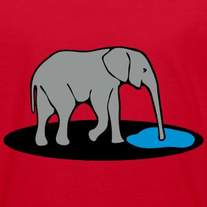"Shirts mit Tier-Motiv ""Elefant trinkt"""