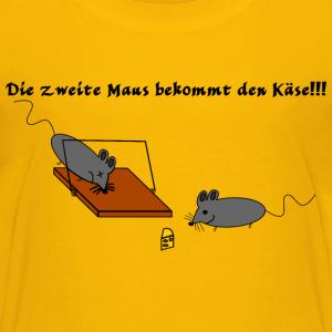 """Shirts mit Tier-Motiv """"Die zweite Maus bekommt den Käse"""""""