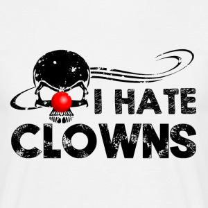 I hate Clowns T-Shirts - Männer T-Shirt