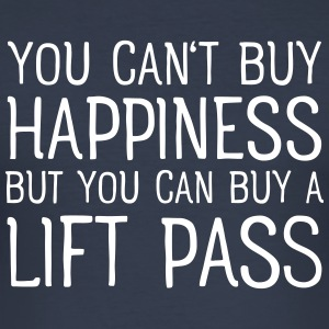 You Cant Buy Happiness But You Can Buy A Lift Pass T-shirts - Slim Fit T-shirt herr