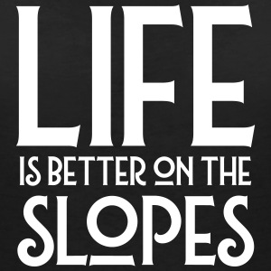 Life Is Better On The Slopes Tee shirts - T-shirt col V Femme