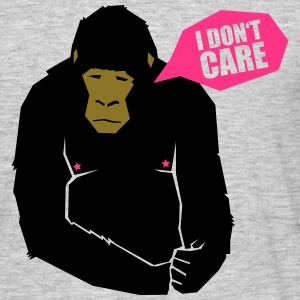 I don't care - monkey T-Shirts - Männer T-Shirt
