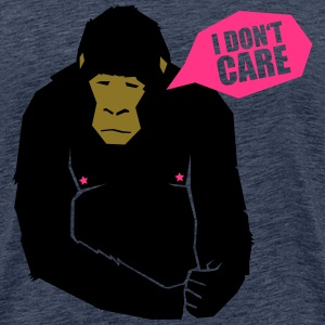 I don't care - monkey T-Shirts - Männer Premium T-Shirt
