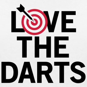Love The Darts 2 T-Shirts - Frauen T-Shirt mit V-Ausschnitt