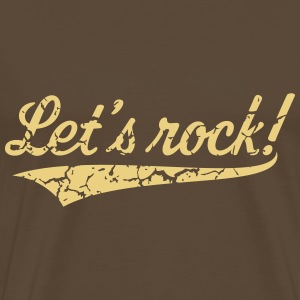 Let's Rock! (Rock 'n' Roll Music / Vintage) Shirt - Men's Premium T-Shirt