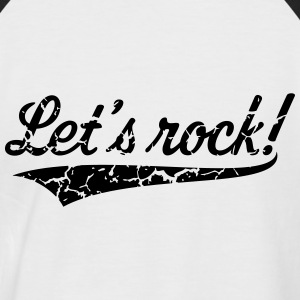 Let's Rock! (Rock 'n' Roll Musique / Vintage) Tee shirts - T-shirt baseball manches courtes Homme