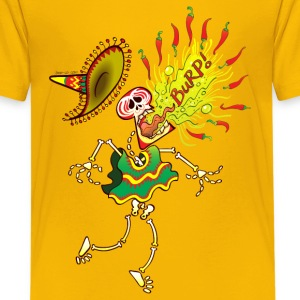 Mexican Skeleton Burping Hot Chili Peppers Shirts - Teenage Premium T-Shirt