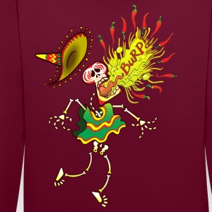 Mexican Skeleton Burping Hot Chili Peppers Hoodies & Sweatshirts - Contrast Colour Hoodie