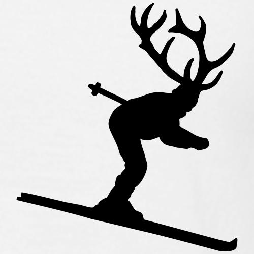 Skihirsch Après-Ski Wintersport für Skifahrer