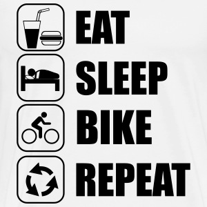 Eat,sleep,bike,repeat  - Maglietta Premium da uomo