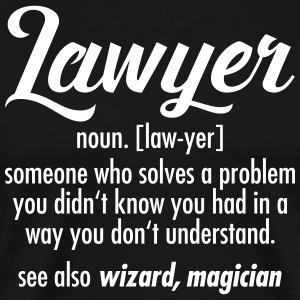 Lawyer - Definition T-Shirts - Männer Premium T-Shirt